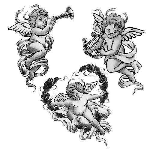 Wzór Tatuażu Aniołek Monika Wypożyczalnia Sprzętu